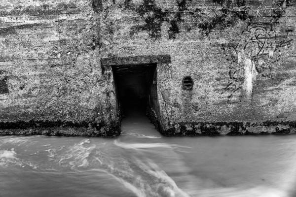 Indgang til bunker af Niels Foltved