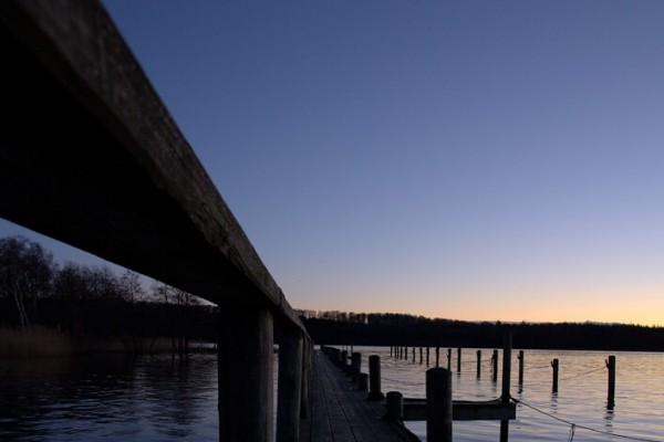 Bådbro sommeraften af Niels Foltved