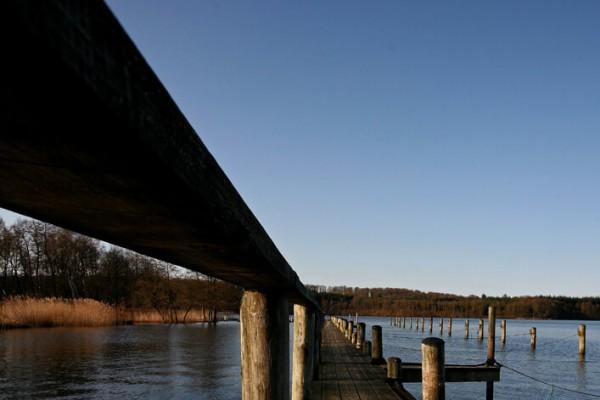Bådbro sommerdag af Niels Foltved